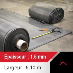 membrane toiture 6.10m de large - ep 1.5
