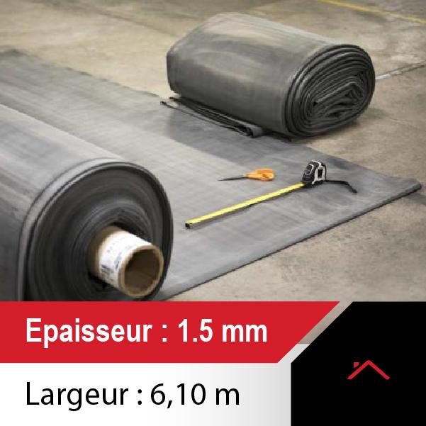 Commandez votre membrane EPDM Toiture, 1,5mm d'épaisseur