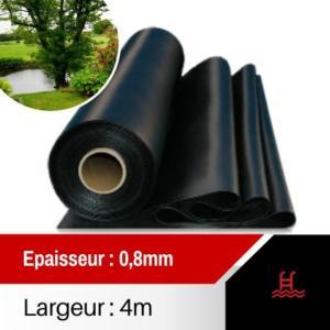 Bâche PVC Ep 0.8mm largeur 4m