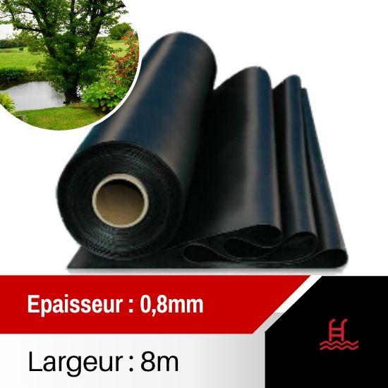Bâche PVC Ep 0.8mm largeur 8m