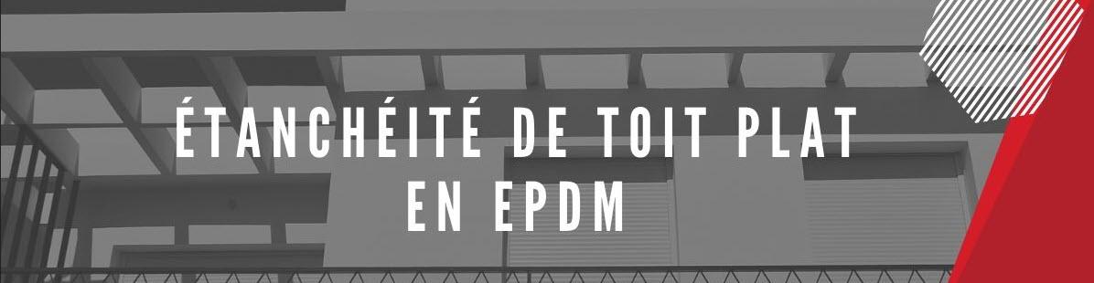 Toit plat en EPDM
