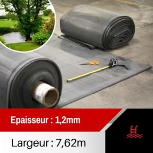 Membrane EPDM bassin EP 1,2 largeur 7,62